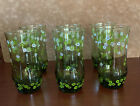 Vintage Libbey Crazy Daisy Spring Blossom Drinking Glasses Tumblers SET OF 6 EUC