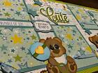Baby Boy Bears Cute 2 premade Scrapbook Pages Paper Piecing Diecuts 12x12