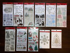 11 Recollections Christmas Themed Clear Stamp Die Sets 9 Stamp Packs FREE GIFT