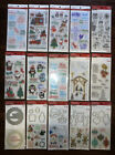 15 Christmas Themed Clear Stamp Sets Stamp  Die Sets 9 Sticker Packs