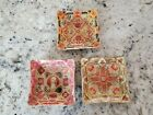 Vintage Cigar Label Glass Ashtrays Cigar Collector Set of 3  Mint condition