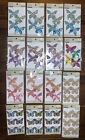 Lot of 16 Glacee Glittered Butterflies Canvas Lace Paper Packs Multiple colors
