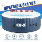 Secondhand 4 Person Inflatable Spa Tub w 120 Jets  Hot Tub Cover for Backyard