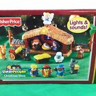 Fisher Price Little People Kids Christmas Nativity Play Set LightUp Sounds Music