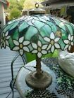 RARE ANTIQUE OLD LEADED SLAG STAINED GLASS HANDEL TIFFANY STYLE LAMP c1905