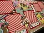Gingerbread House Cookies Christmas premade Scrapbook Pages Paper Piecing Diecut