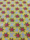 Vtg 1984 Laura Ashley Floral Fabric 47x 85 Red Yellow Vibrant Colors