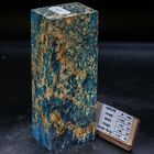 BLUE ALBINO COOL MAPLE BLOCK STABILISED DYED WOOD KNIFE HANDLE MATERIAL