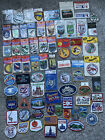 Vintage 80s Lot Of 70 Embroidered Iron On USA Canada National Park State Patches