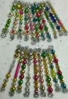 Sweet20 Vtg Mercury Glass Christmas Garland Feather Tree Icicle Ornaments
