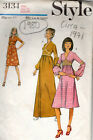 1971 Vintage Sewing Pattern B34 DRESS 1980 By Style 3134