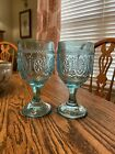 Pioneer Woman Style Footed Glasses 7 Tall 10 Oz 2 Total