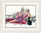 Embroidery Package Vervaco Stick Picture cross Stitch Patterns  Dame With Fan