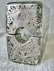 Two Piece Victorian Sterling  Glass Cigarette Cigar Holder Ashtray
