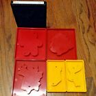 6 Sizzix Dies Christmas Lot Red Yellow Black Angel Santa Stocking Bow More