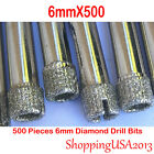 500X 6mm Diamond Coated Drill Bits Set Hole Saw Cutter Tool Glass Marble Ceramic