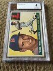 1955 Topps TED WILLIAMS #2 BVG 4 - Very Good-EXCELLENT Red Sox