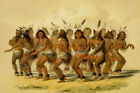 The Bear Dance by George Catlin Vintage Native American Art + Ships Free