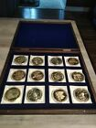 AMERICAN MINT COMPLETE BIRTH OF OUR NATION 24K GOLD LAYERED