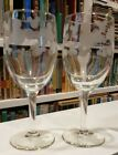 DISNEY Mickey Mouse Etched Wine Glasses some flaws