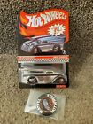 2014 Hot Wheels Red Line Club Car Chrome Drag Dairy With Pin 551 of 3000