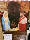 New 28 Lighted Blow Mold Outdoor 3 Piece Nativity Set Christmas Fast Ship