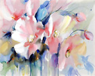 Watercolor Flowers Bouquet Canvas Picture Acrylic DIY Paint Set by Numbers Kits