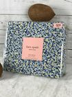 kate spade NEW YORK 100 Cotton Percale Blue Ditsy Floral QUEEN Sheet Set NEW
