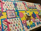 Birthday Bears Train Girl 2 premade Scrapbook Pages Paper Piecing Diecuts 12x12