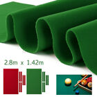 US 9ft Durable Pool Table Cloth Felt W 6x Strips Soft For Snooker Billiards