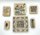 Lot of 6 Limited Edition 2001 2002 Club Scrap Rubber Stamps