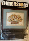 Dimensions Counted Cross Stitch Kit More Sunshine 3784 Daisy Flower Basket 1995