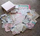 Huge Lot of Baby Girl Scrapbooking Stickers Paper Box  More Over 150 Worth