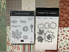 Stampin Up Gather Together stamp setGathered Leaves Dies  Gilded Autumn DSP