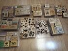 LARGE LOT 100+ Rubber stamps mostly STAMPIN UP Crafting making cards wood