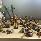 Christmas Nativity Scene Set Of 32 Poly Resin And Bisque Figurines