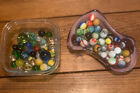 Mixed Lot 110 Assorted Old Vintage To Modern Colorful Glass Marbles GREAT MIX