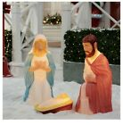 NEW Holiday Time Set of 3 Lighted Nativity Outdoor Christmas Decor