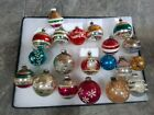 Lot of 20 Vintage Glass Assorted Christmas Ornaments Shiny Brite and More