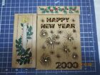 Large Diamonds Happy New Year 2 Hero Arts Christmas Candle  Holly rubber stamp