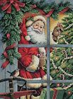 Dimensions Counted Cross Stitch Kit Candy Cane Santa Christmas Cross Stitch 1