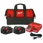 Milwaukee M18 XC50 Extended Capacity Battery 2 Pack w Charger  Bag 48 11 1852P
