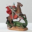 Statue St. George 3.5 inch Saints in a Box Resin Statue with Prayer Card Box