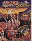 1999 BALLY CACTUS CANYON PINBALL MACHINE FLYER MINT