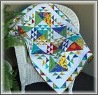 FAT QUARTER FRIENDLY Baby Crib Queen Quilt Pattern NEW Beginnings Colorful 414