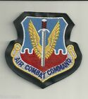 AIR FORCE AIR COMBAT COMMAND LEATHER VELCRO PATCH