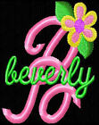 PRETTY FLOWER MONOGRAM FONTS EMBROIDERY MACHINE DESIGNS