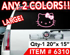LARGE HELLO KITTY 20x15 DECAL STICKER ANY2 COLORS 6310