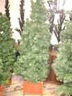 ARTIFICIAL CHRISTMAS TREE PRELIT W/  RED WOOD BOX 6  FT