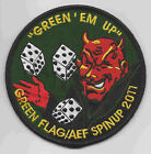 555th FIGHTER SQUADRON GREEN FLAG/AEF SPINUP 2011 patch